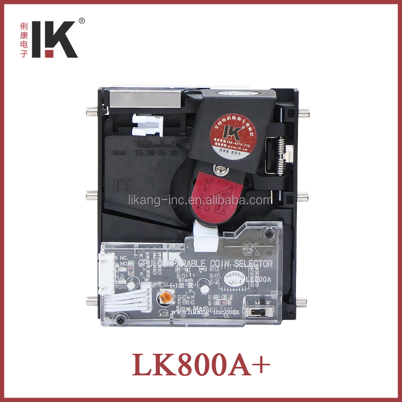 LK800A+ Drop type coin selector for amusement coffee cup rides outdoor game machine