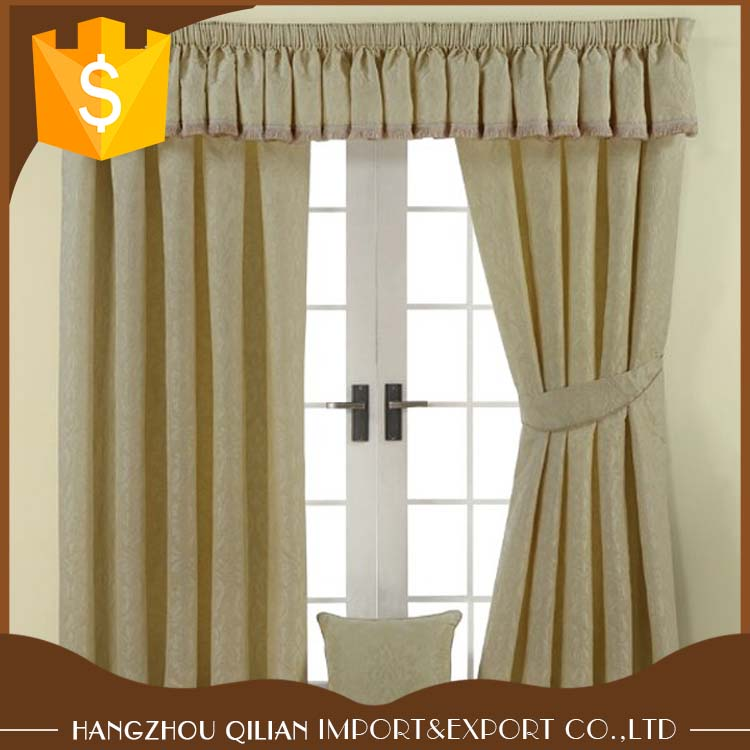 Luxurious Cream Fully Lined Pencil Pleats Damask Curtains
