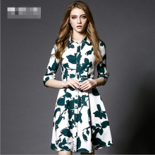 WAT1436 shirt dress design 2016 hefei mosen print fashion high-end lady dresses