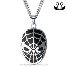 Black Stainless Steel Fashion Spider-Man pendant With China