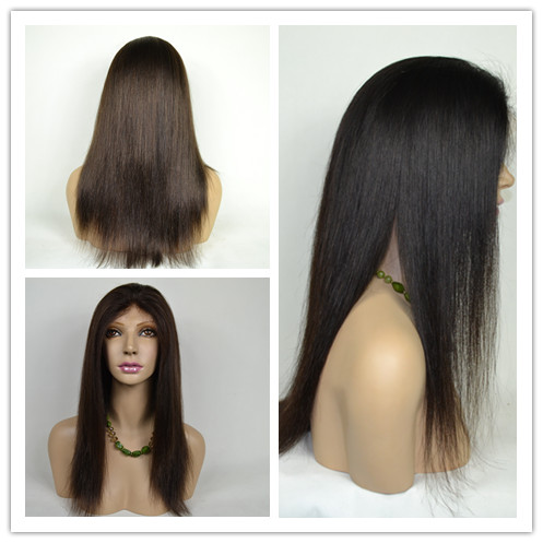 Elegant-wig Quality Indian Hairpiece Free Parting Natural Hairline Silk Base Lace Closure