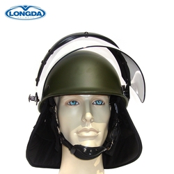 High quality police anti impact anti riot helmet with visor