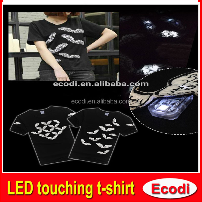 USA Sound Activated EL Panel T shirt China manufacturer