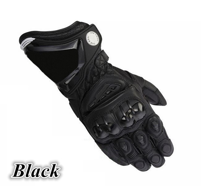 Genuine leather motor bike sport gloves