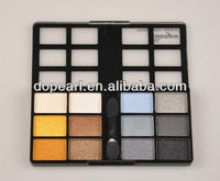 12 autumn and cool color eyeshadow plate,multi color glitter square eyeshadow for girls