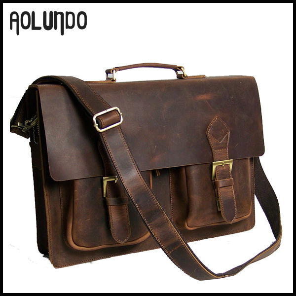 Genuine cow leather cheap fashion leather messenger bag for men