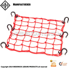 High quaity adjustable plastic hooks mesh cargo net for motorcycle