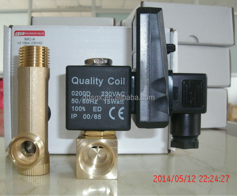 Timer Auto Drain Solenoid Valve for Air Compressor