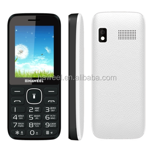 Small Size 3g Feature Cheapest Basic Mobile Phone Unlocked 2.4 inch Haweel X1 Mobile Phone