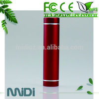 Hot cheap 18650 mini lipstick battery charger portable power bank 2600mah manual