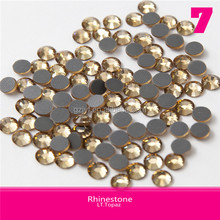 Bulk Korean Crystal Hotfix round shape Rhinestone Ss20 144pcs Light Topaz Flatback Design Round Shape Stone DMC Quality