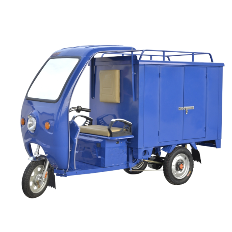 60v 1000w heavy duty covered electric tricycle transport