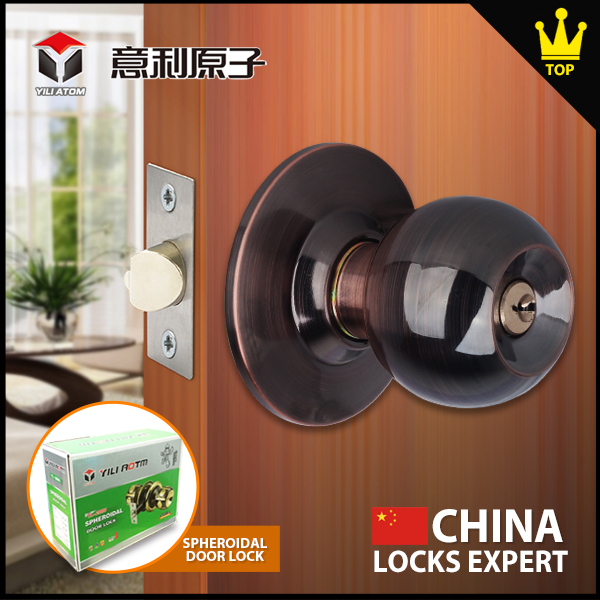 Security Solid Door Lock New product brass cylinder tubular knob lock