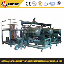 high vacuum used hydraulic oil regeneration plant/waste lube oil recycling equipment