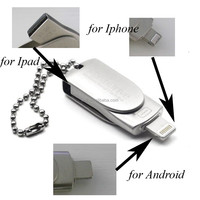 Sliver micro portable Full capacity Disk Driver 8GB/16G/32G/64G USB Flash Drive For iPhone iPad MAC/PC IOS/android system