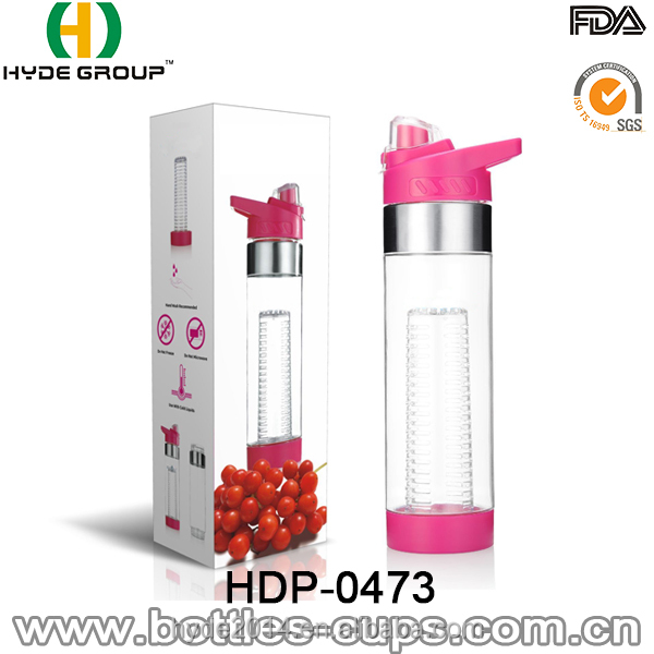 Flip Lid Fruit Infuser Water Bottle - Eco-Friendly BPA Free (HDP-0473)