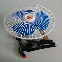 HF-8308 (5)DC 12V/24V Car Fan Oscillating Portable Auto Car Fan 8 Inch Mini Car Fan With Switch