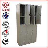 hot sale 6 large steel locker classic bedroom furniture