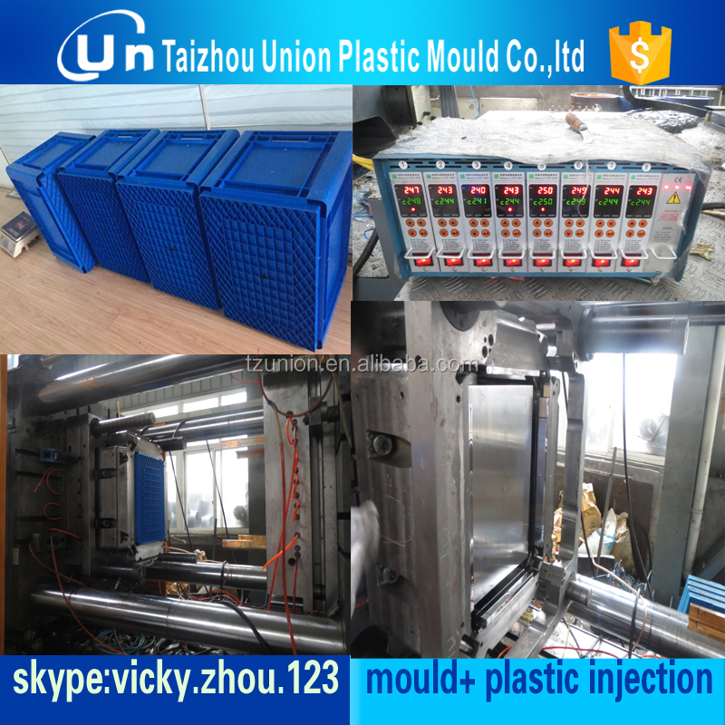 Huangyan plastic Injection Vegetable/Fruit crate mould /plastic injection turnover box mold