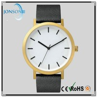 Unsex uniform wares high quality gold men watches stainless steel o clock watch