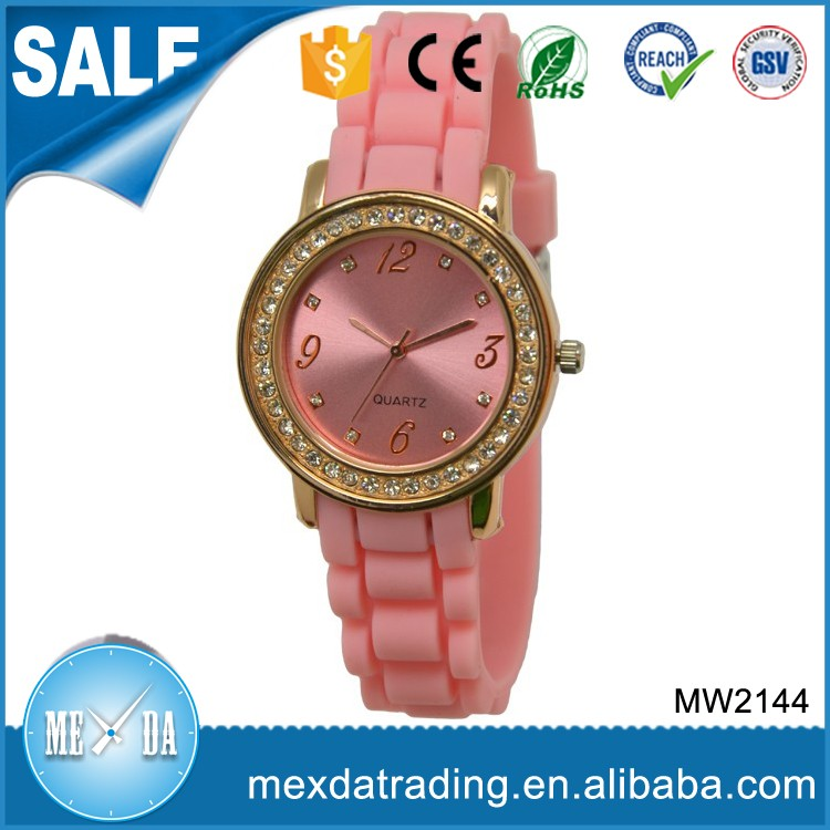 Fashional crystal circle branded watches for girls new design watch