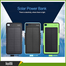 Wholesaler Waterproof Solar Mobile Phone Charger 8000mah with Led Light and Hook Buckle