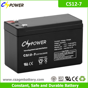 Cspower agm 12V 7Ah rechargeable ups battery for Power tools