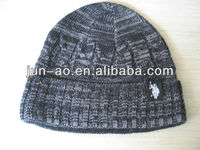 new custom black plain warm winter hat for man