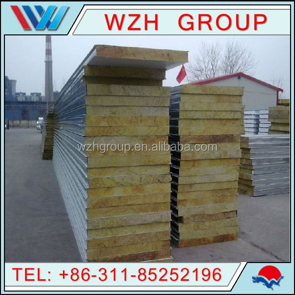 Hot sale Rock Wool Sandwich Roofing Panel for exterior wall panel cladding