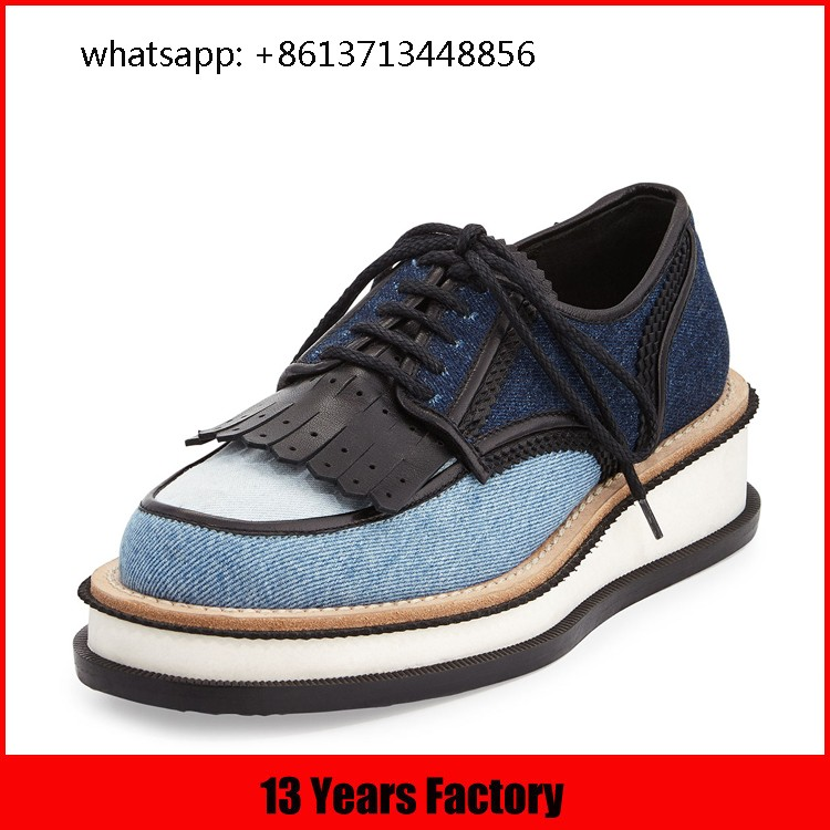 2017 China factory new design comfortable genuine casual women ladies flat Oxford shoes