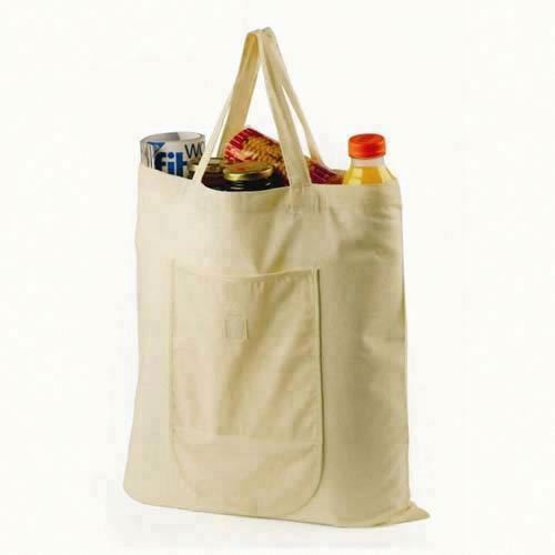 cotton shopper bag with gusset