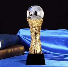 Hot sale trophy theme soccer crystal trophy and awards