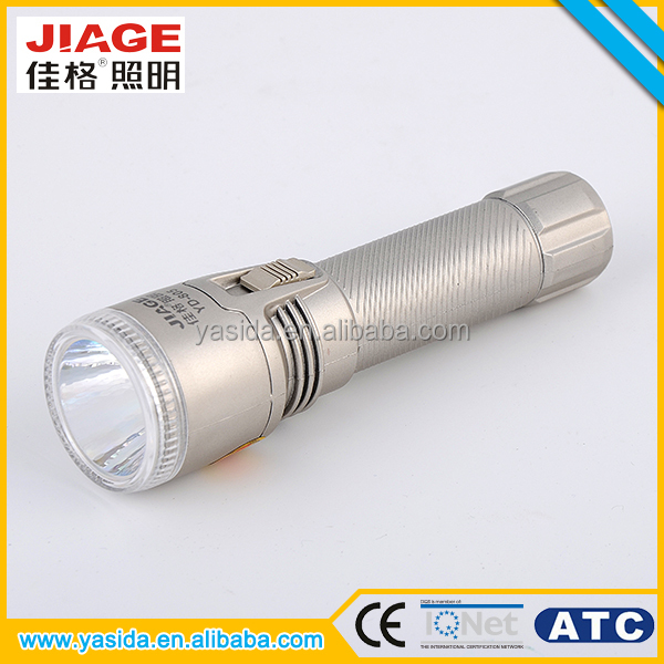 Lightweight ABS plastic rechargeable torch light led flashlight for outdoor