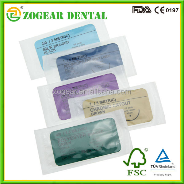 BD004 ZOGEAR Disposable suture with needle, absorbent suture needle