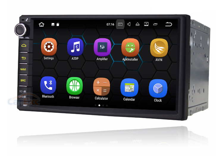 7'' Touch Screen 2 Din Universal Android 7.1 Car GPS Navigation Stereo Multimedia Player System Head Unit
