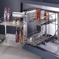 Super quality telescopic basket kitchen cabinet Magic Corner