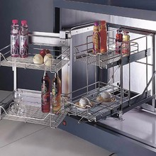 Super quality telescopic basket kitchen cabinet Magic Corner
