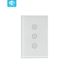 GRSICO IOT Modern Crystal Glass Panel Crystal Glass Panel Smart Home Voice Control Light Switch