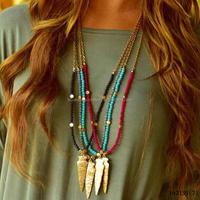 Artficial Wholesale Pendant Beads Gold Arrowhead Necklace