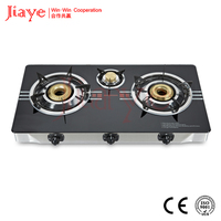 China goods 720mm glass body gas stove,household gas stove,gas cooker for India market JY-TG3006