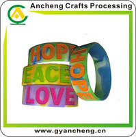 fashional world cup 2014 silicone wristbands made in China