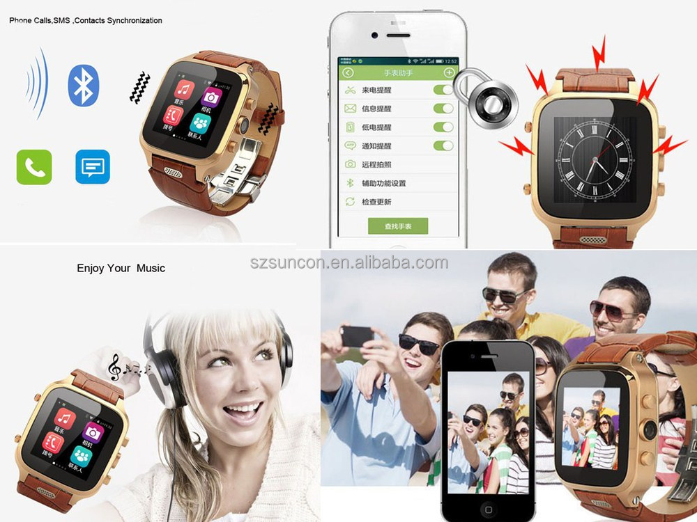 bluetooth wifi smart watch 2015 with Capacitive Touch Screen bluetooth smart watch