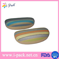 luxury pu handmade triangle pu glasses case/fancy leather soft eyeglass case/eyeglasses packaging box high quality