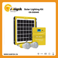 5W portable solar power kit with 2pcs bright led lamp for africa