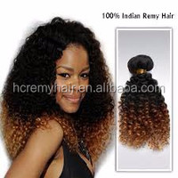 Top supplier in Qingdao real human hair type crochet hair extension curly extension
