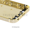 diamond encrusted gold plated 24k for iphone 5s gold body housing