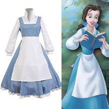 Beauty And The Beast Cosplay Costume Princess Belle Maid Dress