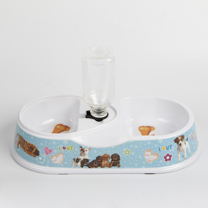 High quality 14Inch double diner anti-slip melamine pet bowl