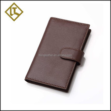 Genuine leather magic flip wallet business card case with slots