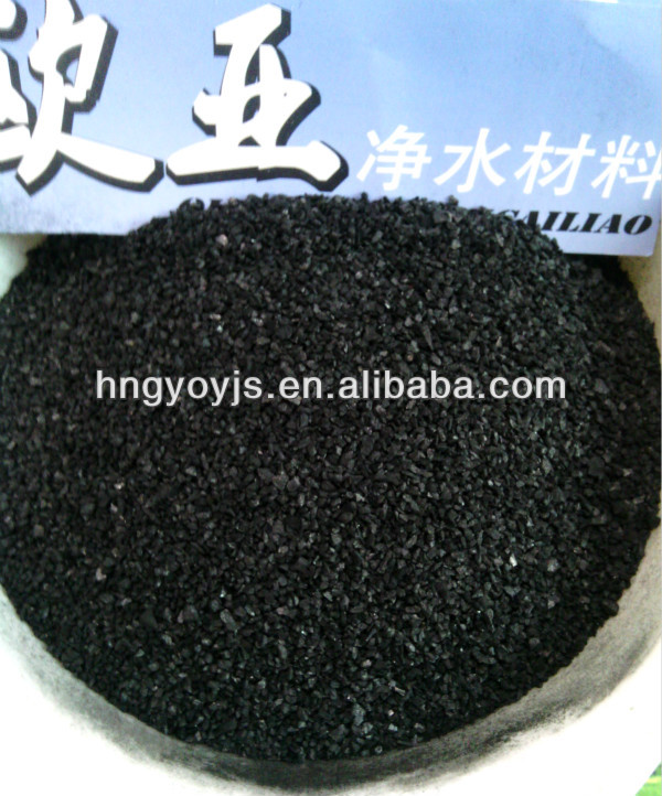 Iodine value 12x40 granular activated carbon for water quality improvement